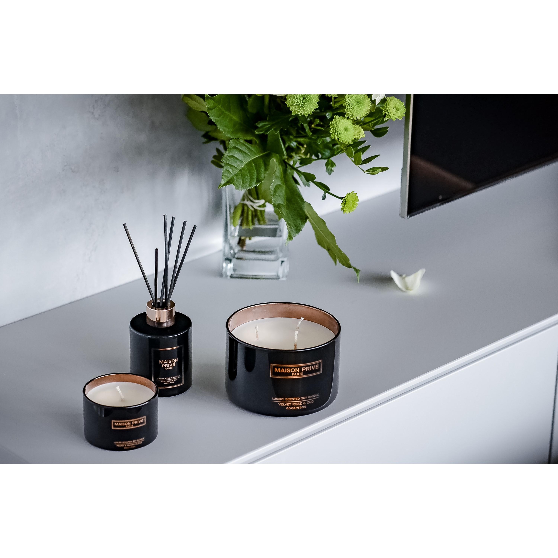 Luxus-Aromaschilf-Diffusor | Schwarzer Bernstein & Ingwerlilie