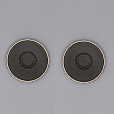 Mocu Saucer Set of 2 | Black