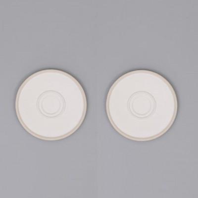 Mocu Saucer Set of 2 | White