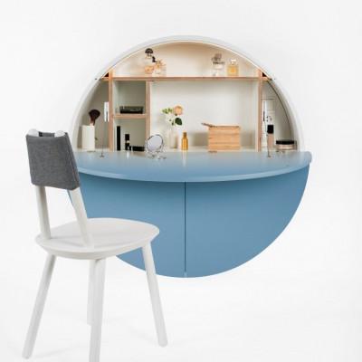Desk Pill |  White / Blue