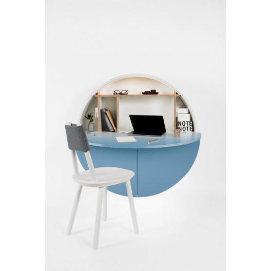 Schreibtisch Pill | Weiß / Blau