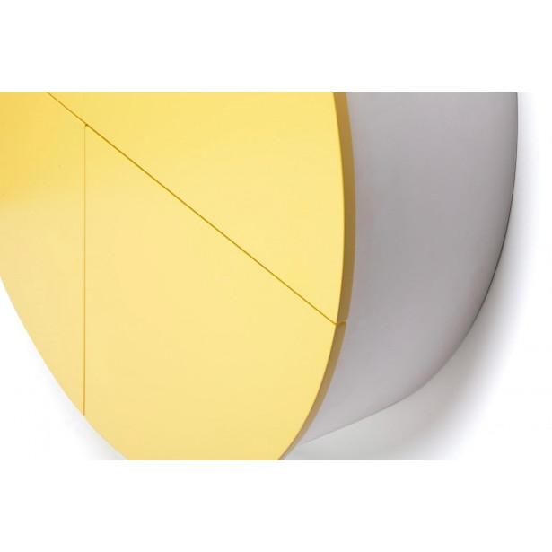 Schreibtisch Pill   Weiß / Gelb