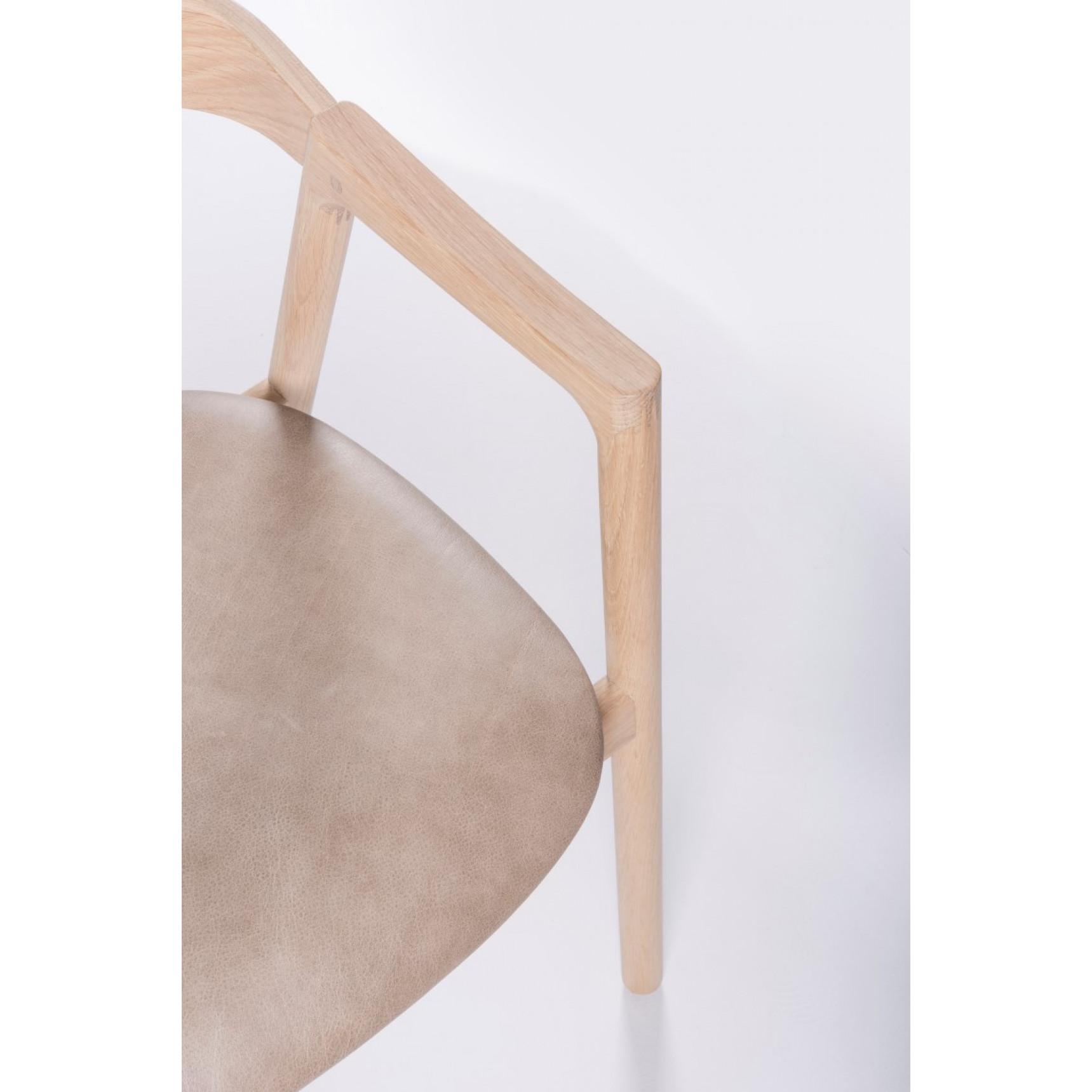 Stuhl Muna | Weißes Öl / Leder