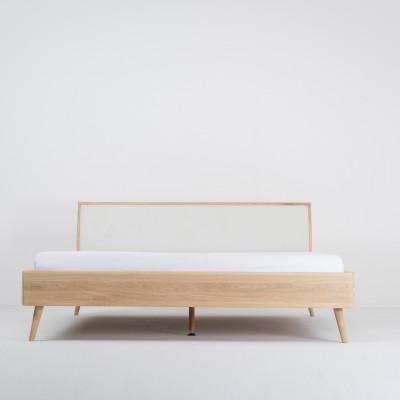 Bett Ena | Weißes Hartwachs geölt