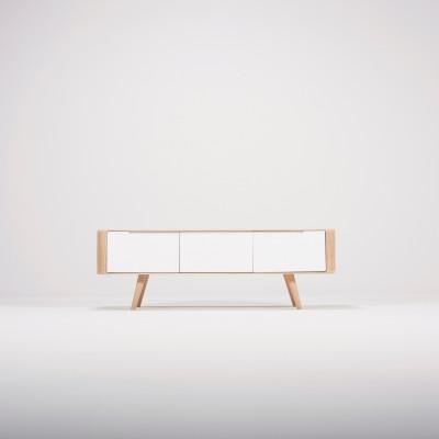 TV-Sideboard Ena | Weißes Hartwachs geölt