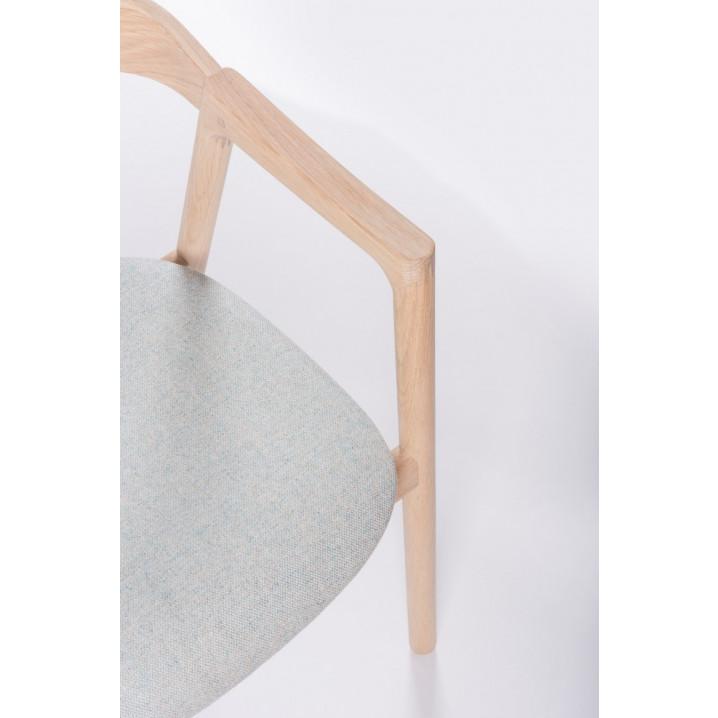 Stuhl Muna | Weißöl / Stoff