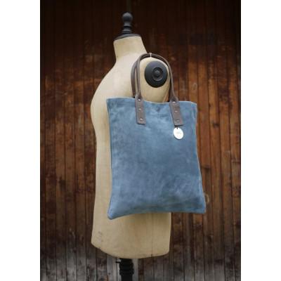 Blaue Handtasche Wildleder Kalb