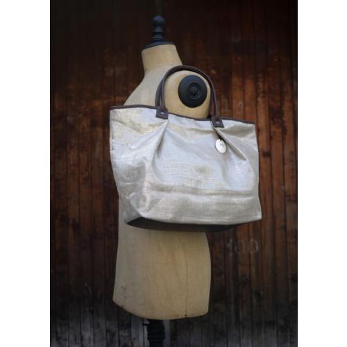 Linen bag Silver
