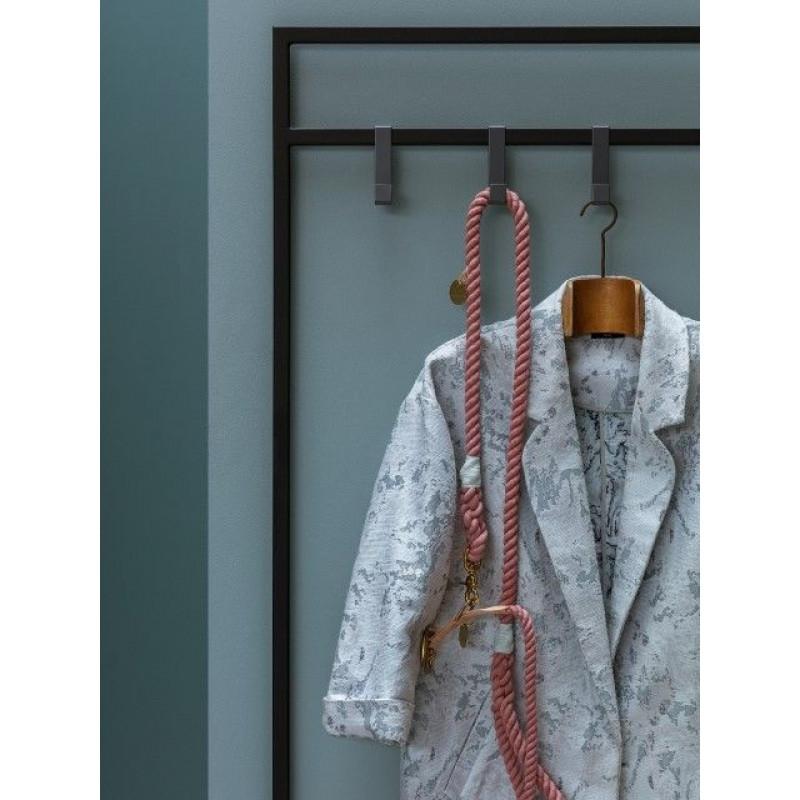 MR. COSY WITH SHELF Coat Stand | Black Matt & Oak