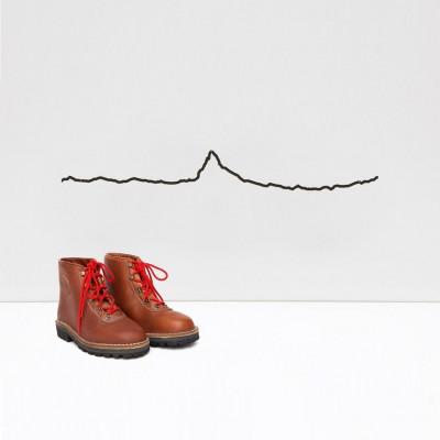 Wanddekoration Matterhorn klein | Schwarz