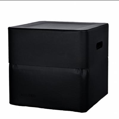 Box-Stuhl 34 cm | Schwarz
