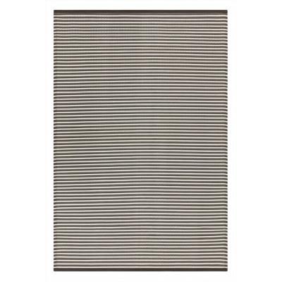 Indoor/Outdoor Plastic Rug Multi Grey Stripes   Grey