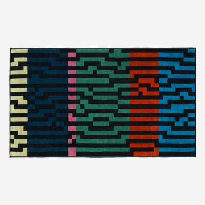 Multicolour Waves Strandtuch