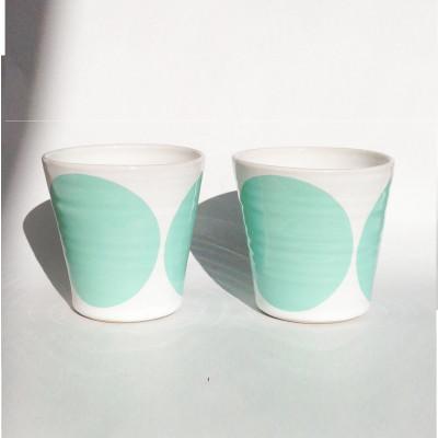 TINA Mug Set of 2   Mint Green