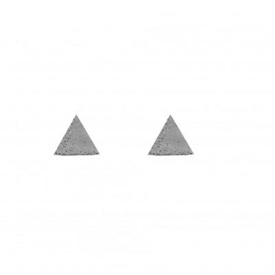 Ohrringe MINI TRIANGLE | Grau
