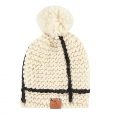 Knitted Hat Lex | Cream White