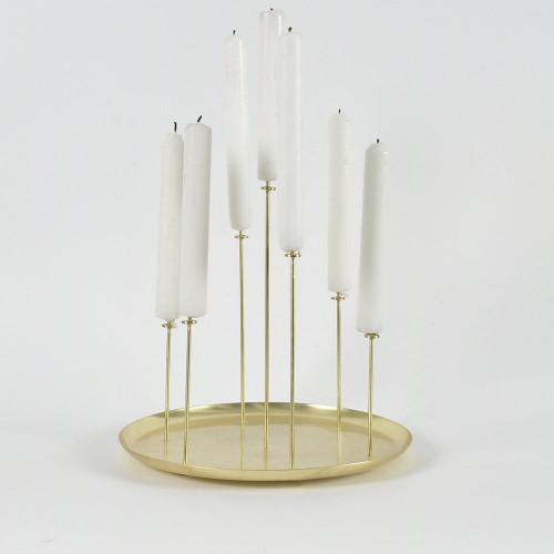 Kerzenständer Pin für 7 Kerzen   Messing