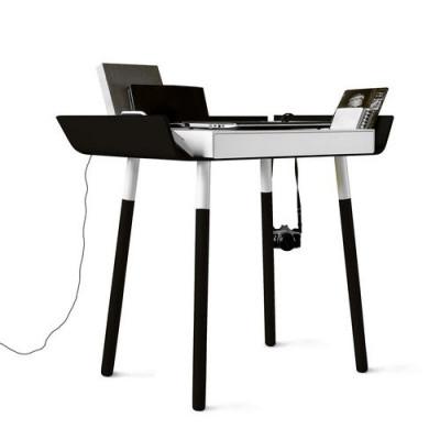 Schreibtisch 'Mein Schreibtisch' Klein | Schwarz/Weiß