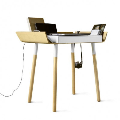 Schreibtisch 'Mein Schreibtisch' Klein | Naturel/Weiß