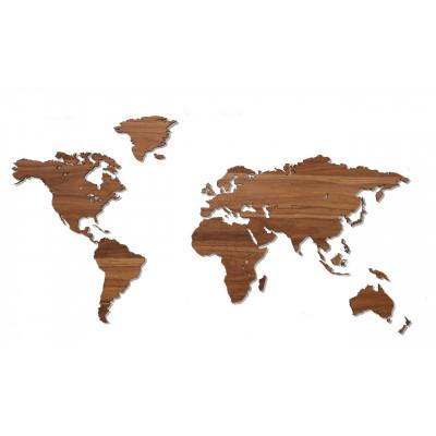 Wooden World Map   Walnut