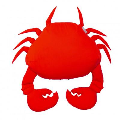 Outdoor-Sitzsack Rote Krabbe XL schwimmend | Rot
