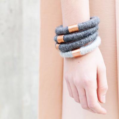 Handmade Bracelet   Den Haag Light Gray