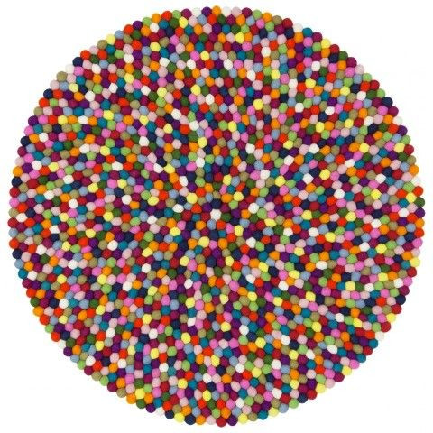 Felt Ball Rug Lotte   Multicolour