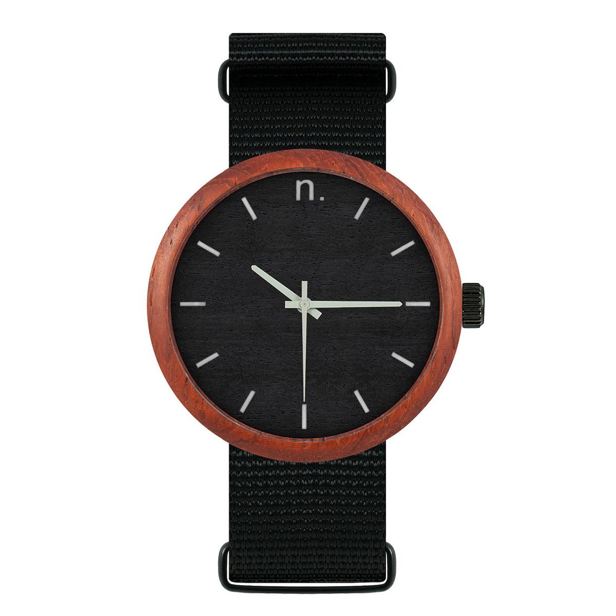 Uhr Herr NEW HOOP 43   Schwarz & Grau