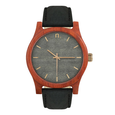 Uhr Herr CLASSIC 43   Schwarz, Grau & Gold