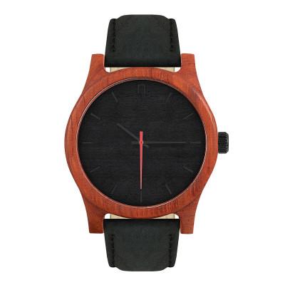 Uhr Herr CLASSIC 43   Schwarz & Rot