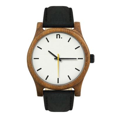 Uhr Herr CLASSIC 43   Schwarz,Weiß & Gelb