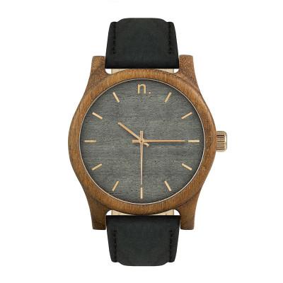 Uhr Herr CLASSIC 43 8   Schwarz, Grau & Gold