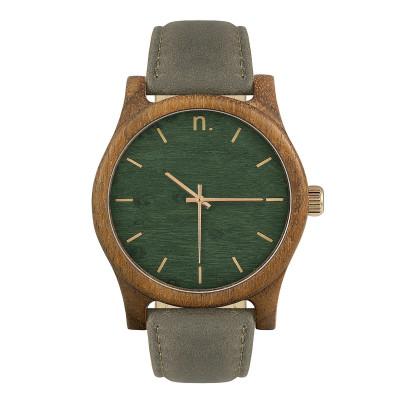 Uhr Herr CLASSIC 43   Grau, Grün & Gold