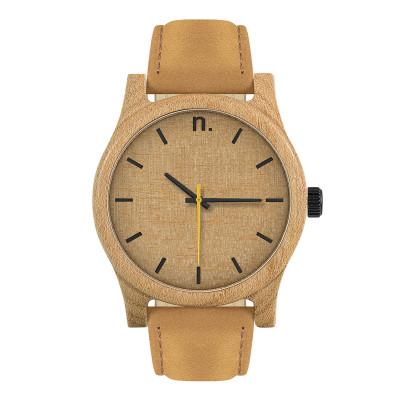 Uhr Herr CLASSIC 43   Braun,Beige,Schwarz & Gelb