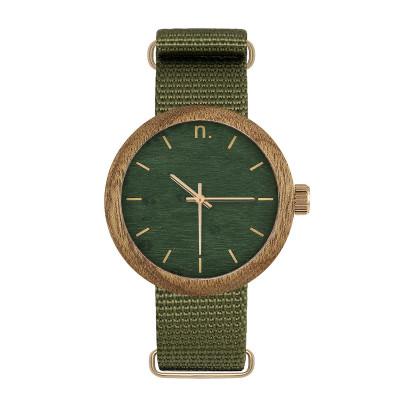 Uhr Frau NEW HOOP 38   Grün & Gold