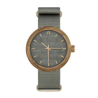 Uhr Frau NEW HOOP 38   Grau & Gold