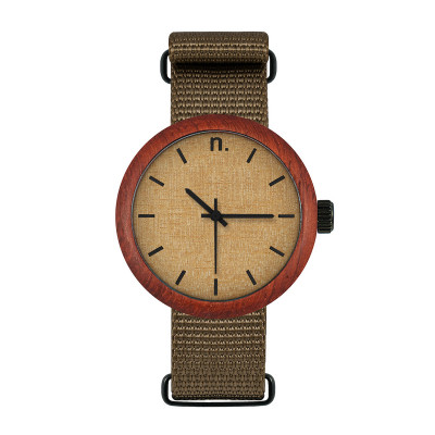 Uhr Frau NEW HOOP 38   Khaki, Beige & Schwarz