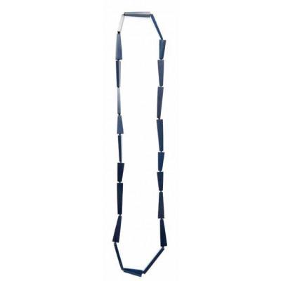 Halskette Lang Geometrisch Provence Blau
