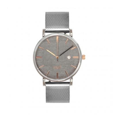 Uhr Herr STALOWY 36   Silber, Grau & Gold