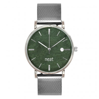 Uhr Herr STALOWY 40   Silber & Grün