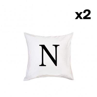 2er-Set Kissenbezügen | N-63 x 63 cm
