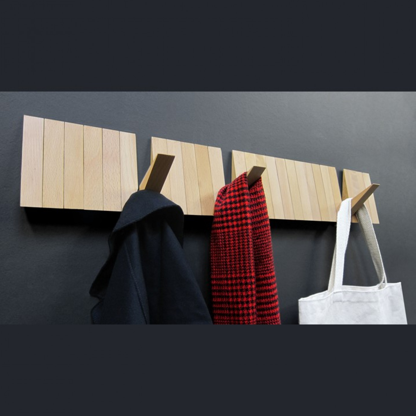 Wall-Mounted Coat Rack Switchboard   Natural
