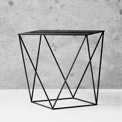 Trigona Side Table | Black & Wood