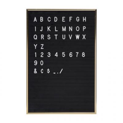 Schwarzes Brett + weiße Buchstaben