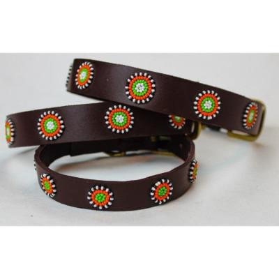 Nairobi Dog Collar Large | Brown Leather