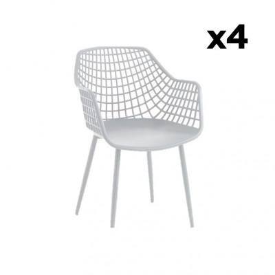 4-er Set Sessel Nairobi | Weiß