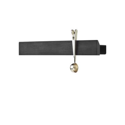 Magnetregal Flex 40 cm | Schwarz-Eichenschwarz