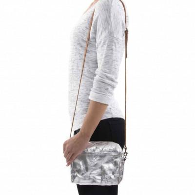 Metallic Shoulder Bag Nanni | Silver