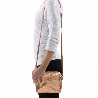 Metallic Shoulder Bag Nanni | Rosé
