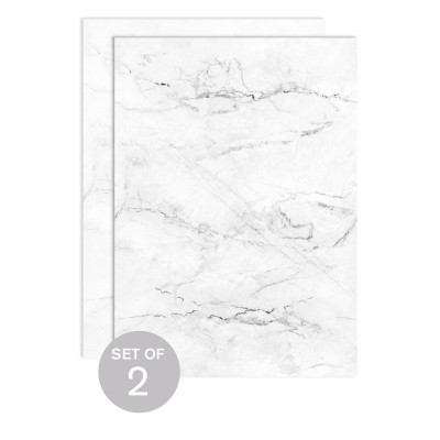 White Marble (Set of 2)